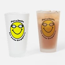 Smiling Goggles Drinking Glass