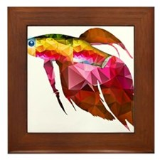 Tropical fish Framed Tile