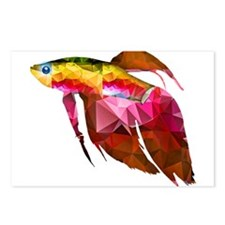 Funny Betta fish Postcards (Package of 8)