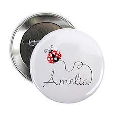 "Ladybug Amelia 2.25"" Button"