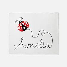 Ladybug Amelia Throw Blanket