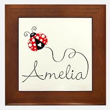 Ladybug Amelia Framed Tile