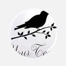 """Personalizable Black Bird Silhouette 3.5"""" Button ("""