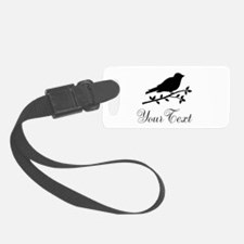 Personalizable Black Bird Silhouette Luggage Tag