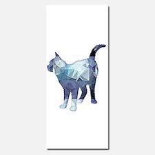 Mosaic Polygon Standing Tabby Cat Blue Grey Invita