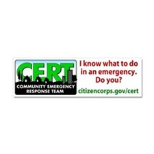 Cute Citizen corps Car Magnet 10 x 3