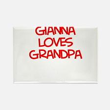 Gianna Loves Grandpa Rectangle Magnet