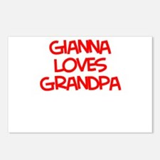 Gianna Loves Grandpa Postcards (Package of 8)