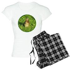Rabbit Eating Weeds Pajamas