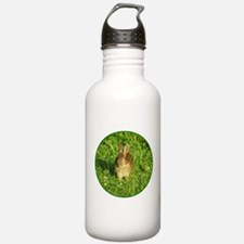 Rabbit Eating Weeds Water Bottle