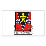509th Airborne Crest Rectangle Sticker
