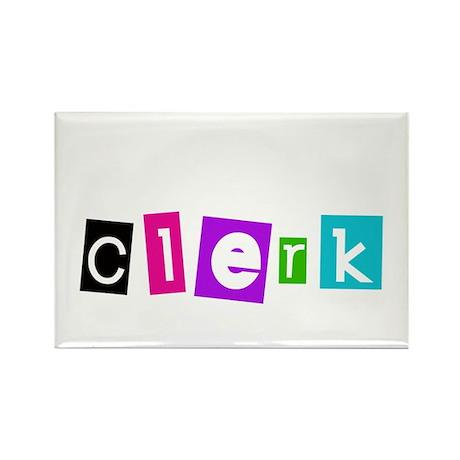 Clerk Rectangle Magnet