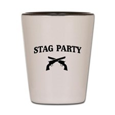 Stag Party Guns Shot Glass