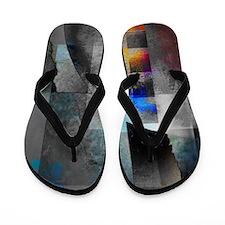 Cute Abstract art Flip Flops