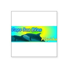 "Cute Surfing florida Square Sticker 3"" x 3"""