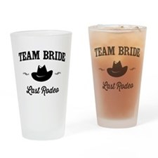 Team Bride Last Rodeo Drinking Glass