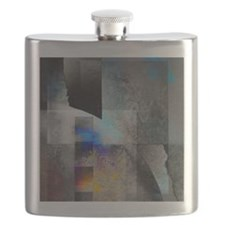 Unique Abstract art Flask