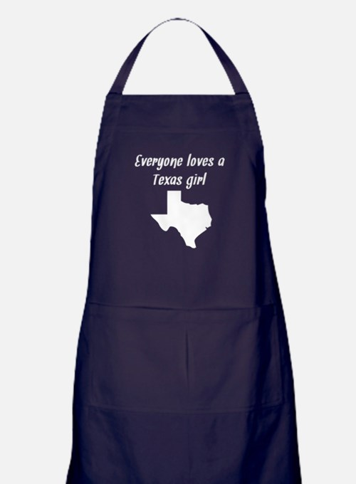 Everyone Loves A Texas Girl Apron (dark)