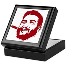 Che Guevara Stencil Keepsake Box