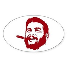 Che Guevara Stencil Oval Decal