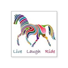 horse rainbow_horselarge live love laugh Sticker