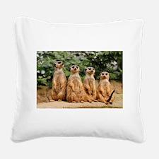 Funny Meerkat Square Canvas Pillow