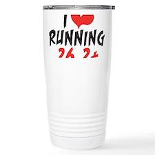 I heart running 26.2+ Travel Mug
