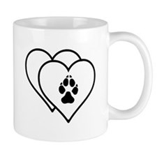 Two Hearts Love Animals Logo Mugs