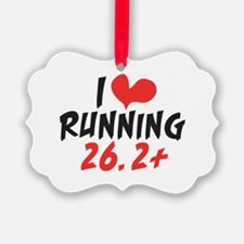 I heart running 26.2+ Ornament