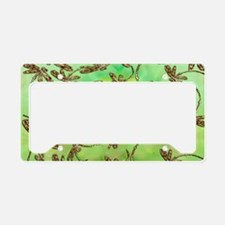Golden Dragonfly Cluster License Plate Holder