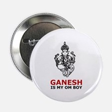 Hinduism Ganesh Is My Om Boy Button