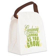 Gardening Learning As You Grow Canvas Lunch Bag