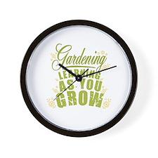 Gardening Learning As You Grow Wall Clock