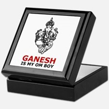 Hinduism Ganesh Is My Om Boy Keepsake Box