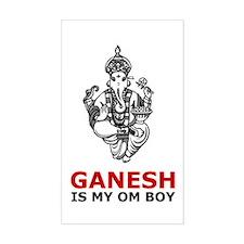 Hinduism Ganesh Is My Om Boy Sticker (Rect.)