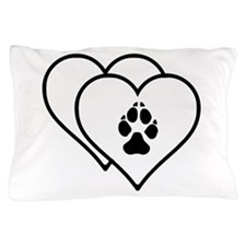 Two Hearts Love Animals Logo Pillow Case