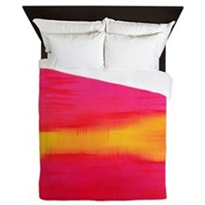ROTHKO PINK AND YELLOW ORANGE Queen Duvet