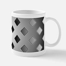 Black and White Diamond Abstract Mugs