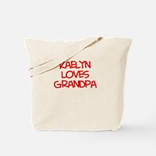 Kaelyn Loves Grandpa Tote Bag