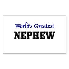 World's Greatest NEPHEW Rectangle Decal
