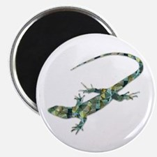 Mosaic Polygon Green Lizard Magnets