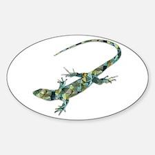 Mosaic Polygon Green Lizard Decal
