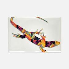 Mosaic Polygon Bright Gila Lizard Lizard Magnets