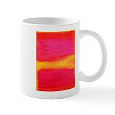 rothko pink & yellow on red Mugs
