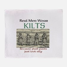 Real Men Wear Kilts Throw Blanket