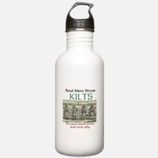 Real Men Wear Kilts Water Bottle