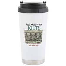 Real Men Wear Kilts Travel Mug