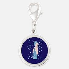 blue flapper christmas Charms