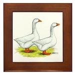 Embden Geese Framed Tile