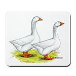 Embden Geese Mousepad